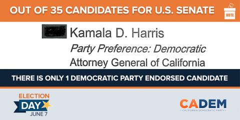 primary california election june 7 kamala harris senate